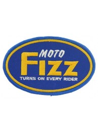 MOTO FIZZ BIKER IRON ON EMBROIDERED PATCH