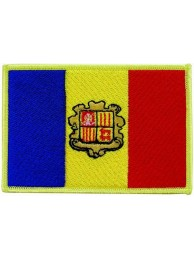 ANDORRA FLAG EMBROIDERED PATCH #C