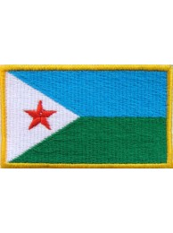 "Djibouti Flags ""Without Text"""