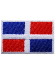 "Dominican Flag ""Without Text"" Embroidered Patch"
