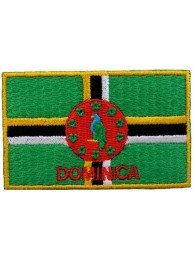 "Dominica Flags ""With Text"""