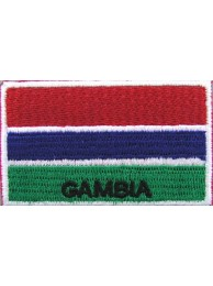 "Gambia Flags ""With Text"""