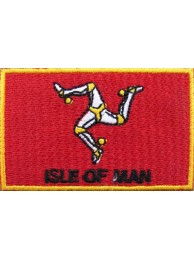 "Isle Of Man Flags ""With Text"""