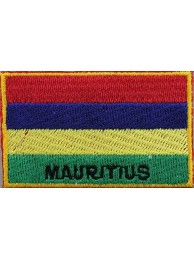 "Mauritius Flags ""With Text"""