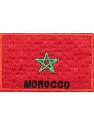 "Morocco Flags ""With Text"""