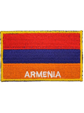 Armenia National Flag Embroidered With Text patch