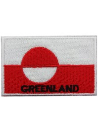 "GREENLAND FLAG ""With Text"" EMBROIDERED PATCH"