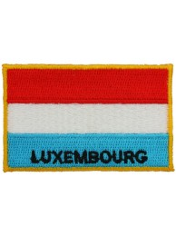 Luxembourg Flag Embroidered WithText Patch