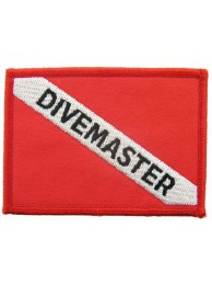 SCUBA -  DIVEMASTER FLAG EMBROIDERED PATCH