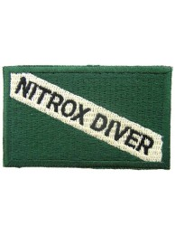 SCUBA -  NITROX DRIVER FLAG EMBROIDERED PATCH