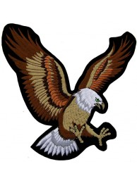 GIANT UP WING FLYING EAGLE EMBROIDERED PATCH (XXL)