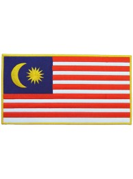 GIANT MALAYSIA FLAG EMBROIDERED PATCH (P1)