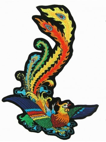 GIANT PHOENIX TATTOO PATCH RIGHT (XL-17R)