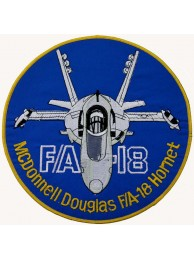GIANT USAF MCDONNELL DOUGLAS FA18 PATCH (K01)
