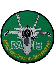 GIANT USAF MCDONNELL DOUGLAS FA18 PATCH (K2)