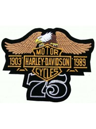 GIANT HARLEY DAVIDSON BIKER BAR/SHIELD PATCH (L07)