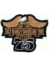 GIANT HARLEY DAVIDSON BIKER BAR/SHIELD PATCH (L07)