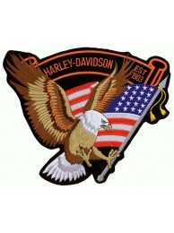 GIANT HARLEY DAVIDSON BIKER EAGLE PATCH (XL14)