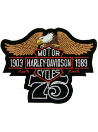 GIANT HARLEY DAVIDSON 75th ANNV EAGLE PATCH (L16b)