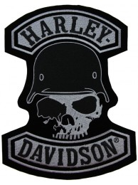 GIANT HARLEY DAVIDSON BIKER SKULL PATCH (XL19)