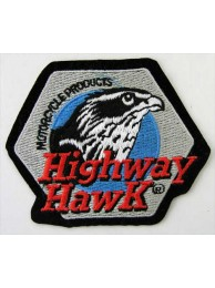 HIGHWAY HAWK MOTORCYCLES EMBROIDERED PATCH