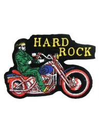 HARD ROCK BIKER EMBROIDERED PATCH