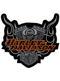 HARLEY DAVIDSON BIKER EMBROIDERED PATCH #48-A