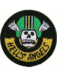 HELL'S ANGELS BIKER IRON ON EMBROIDERED PATCH #01