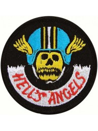 HELL'S ANGELS BIKER IRON ON EMBROIDERED PATCH #02