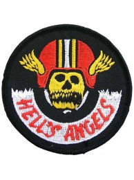 HELL'S ANGELS BIKER IRON ON EMBROIDERED PATCH #04