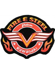 KAWASAKI BIKER MOTORCYCLE EMBROIDERED PATCH #03