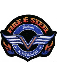 KAWASAKI BIKER MOTORCYCLE EMBROIDERED PATCH #05