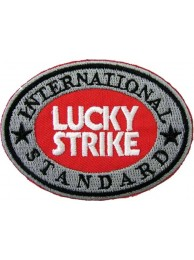LUCKY STRIKE BIKER EMBROIDERED PATCH #01