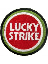 LUCKY STRIKE BIKER EMBROIDERED PATCH #09