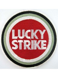 LUCKY STRIKE BIKER EMBROIDERED PATCH #11