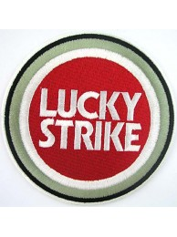 LUCKY STRIKE BIKER EMBROIDERED PATCH #13