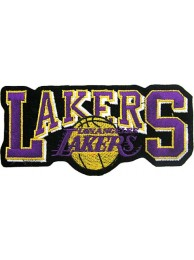 LOS ANGELES LAKERS NBA BASKETBALL EMBROIDERED PATCH #17