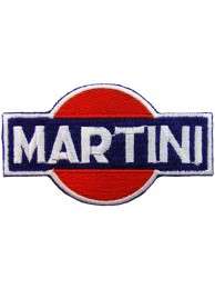 MARTINI RACING SPORT IRON ON EMBROIDERED PATCH #01