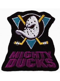 NHL HOCKEY MIGHTY DUCKS IRON ON EMBROIDERED PATCH #01