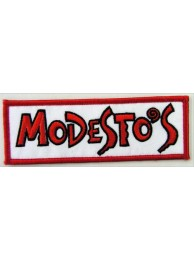 MODESTO's PIZZA IRON ON EMBROIDERED PATCH #01