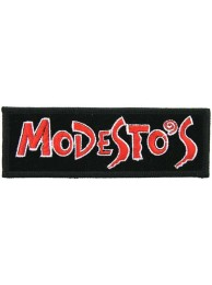 MODESTO's PIZZA IRON ON EMBROIDERED PATCH #02