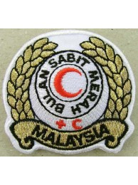 MALAYSIA RED CROSS AMBULANCE IRON ON EMBROIDERED PATCH #04