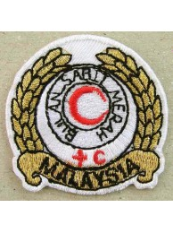 MALAYSIA RED CROSS AMBULANCE IRON ON EMBROIDERED PATCH #07