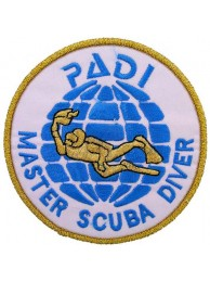 PADI SCUBA - MASTER SCUBA DIVER PATCH (A)