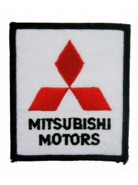 MITSUBISHI AUTO RACING IRON ON EMBROIDERED PATCH #02A