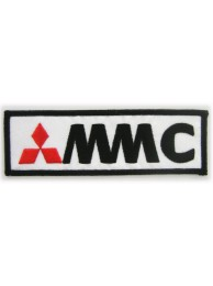 MITSUBISHI AUTO RACING IRON ON EMBROIDERED PATCH #04A