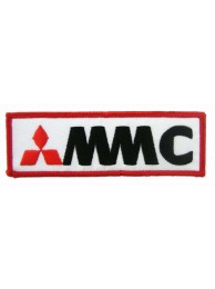 MITSUBISHI AUTO RACING IRON ON EMBROIDERED PATCH