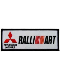 MITSUBISHI RALLI ART AUTO RACING IRON ON EMBROIDERED PATCH