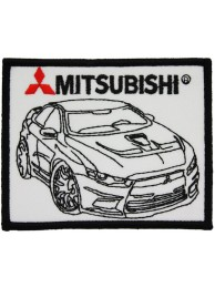 MITSUBISHI EVOLUTION X RACING EMBROIDERED PATCH #1