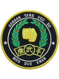 MOO DUK KWAN, TANG SOO DO EMBROIDERED PATCH #02